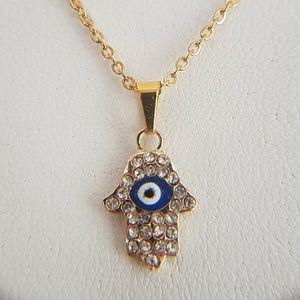 Jewelry - Hamas Evil Eye Necklace Pendant 2pc set